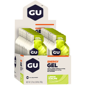 GU Energy Geelipakkaus 24x32g, Lemon Sublime